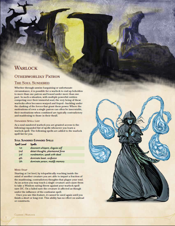 The Soul Sundered Warlock - Dungeon Masters Guild | Dungeon
