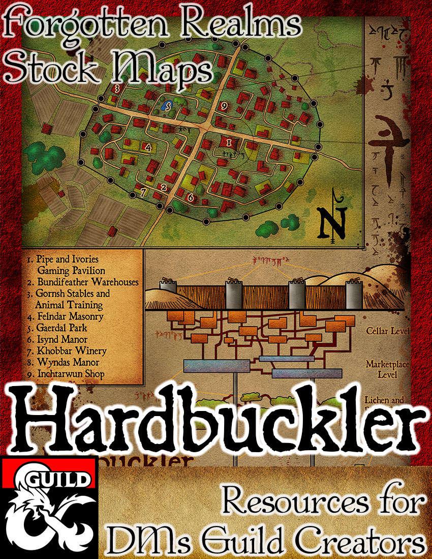 Hardbuckler - Forgotten Realms Stock Maps - Dungeon Masters Guild   Dungeon  Masters Guild