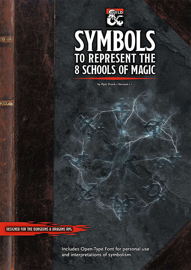 Symbols To Represent The 8 Schools Of Magic Dungeon Masters Guild