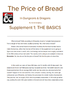 The Price of Bread Part 1