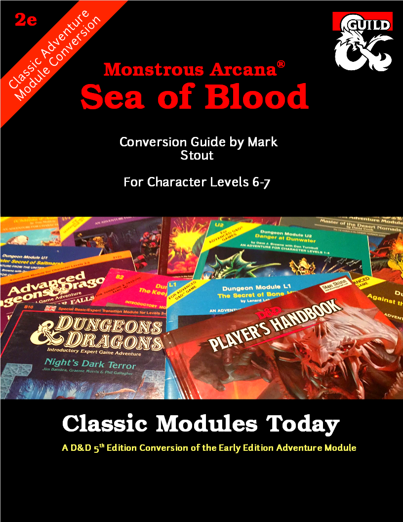 Classic Modules Today: Sea of Blood (5e) - Dungeon Masters Guild | Dungeon  Masters Guild