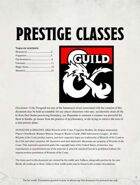 New Prestige Classes