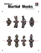 Martial Monks fold-up miniatures by Asphodelius