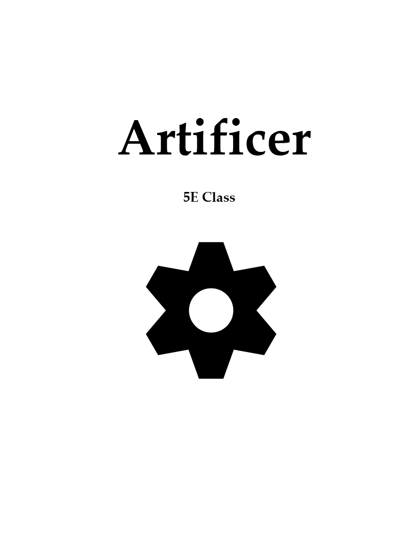 Artificer - Revised Unearthed Arcana - Dungeon Masters Guild