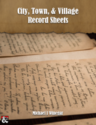 City, Town, & Village Record Sheets
