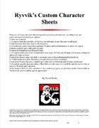 Ryvvik's Custom Character Sheets