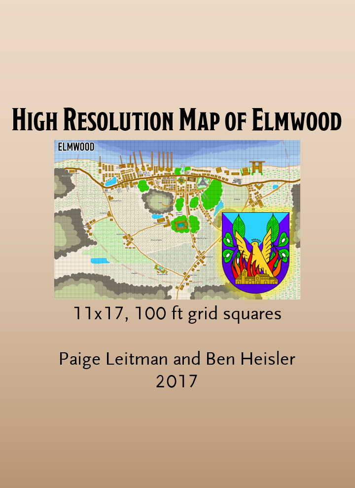 Elmwood Map High Resolution Dungeon Masters Guild