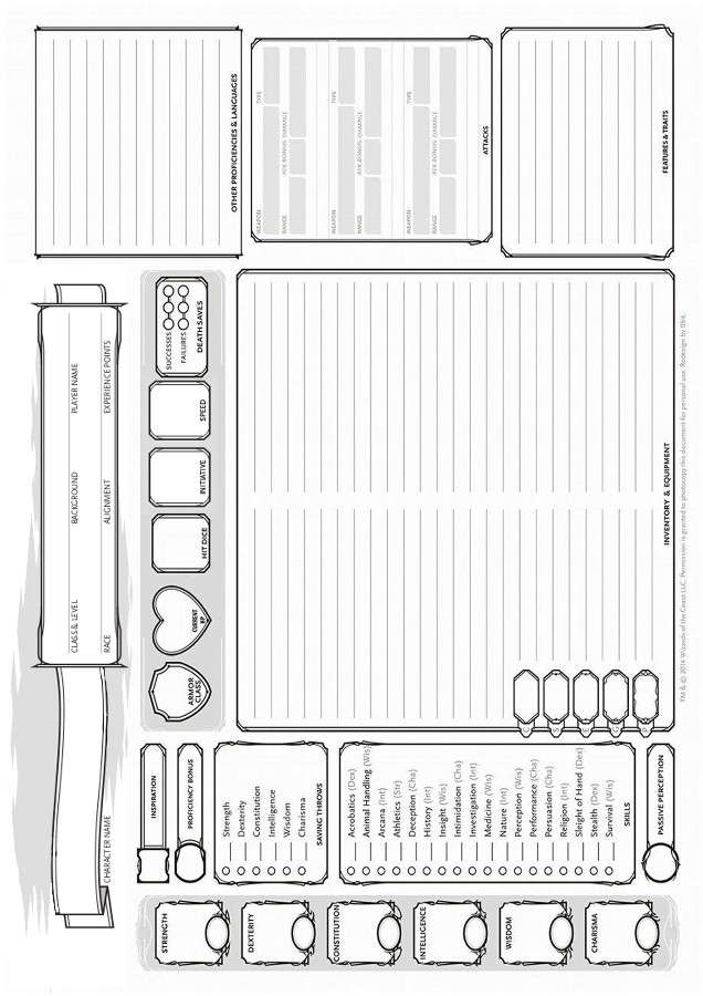 Landscape Character Sheets - Dungeon Masters Guild   Dungeon Masters