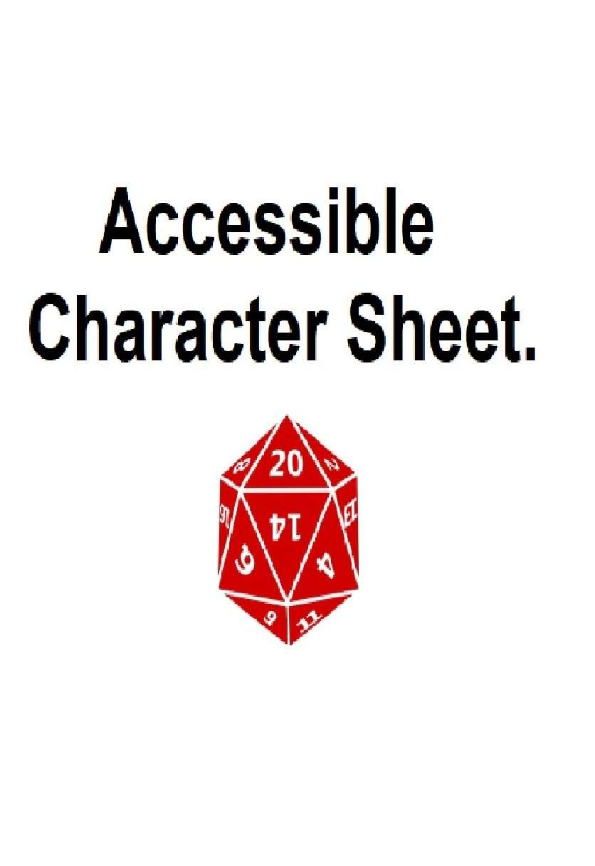 Visually Impaired Friendly Character Sheet
