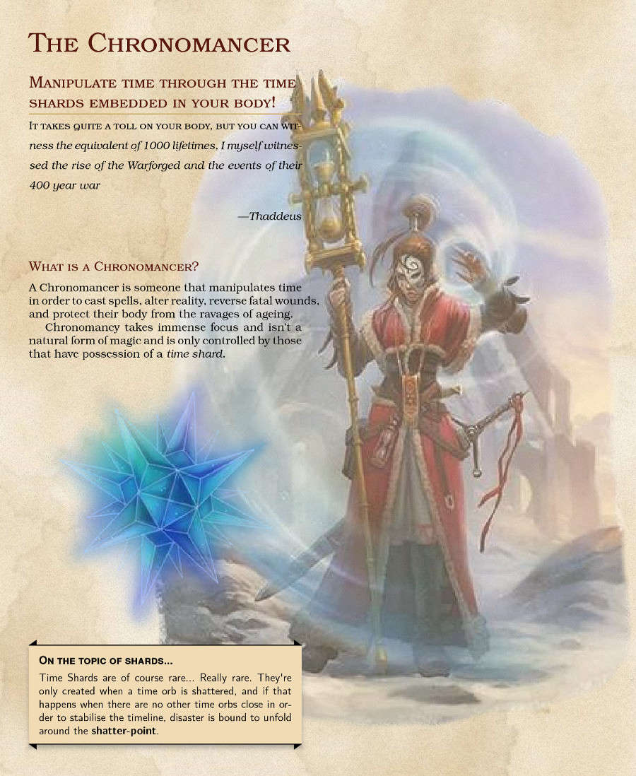 Chronomancer (5e) - Dungeon Masters Guild | Dungeon Masters Guild