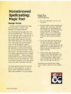 Homebrewed Spellcasting - Magic Pool