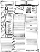 Stylized Character Sheet 1