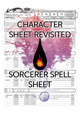 5e Revisited: Sorcerer Spell Sheet (form fillable)