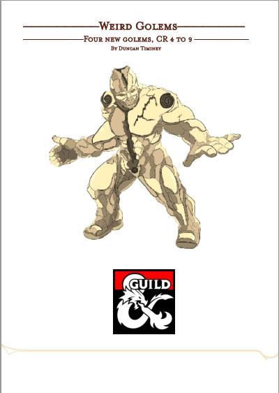 Weird Golems Dungeon Masters Guild Dungeon Masters Guild