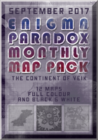 Enigma Paradox Monthly Map Pack: Continent of Veik (Colour)
