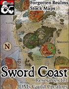 The Sword Coast - Forgotten Realms Stock Maps - Dungeon Masters Guild    DriveThruRPG com