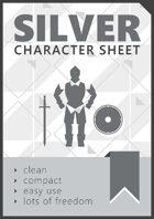 SILVER, Character Sheet