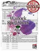 5e Revisited: Warlock Spell Sheet (form fillable)