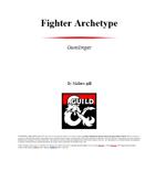 Fighter Archetype: Gunslinger