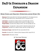 D&D 5e Dinosaur & Dragon Expansion