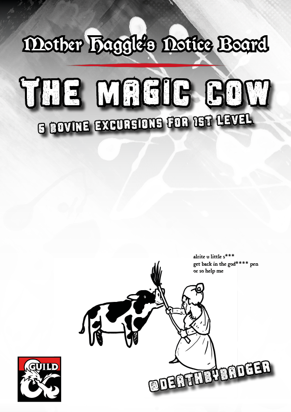 Cover of Mother Haggle's Noticeboard - The Magic Cow