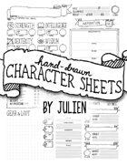 Hand-Drawn Character Sheet
