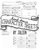 Hand-Drawn Character Sheet