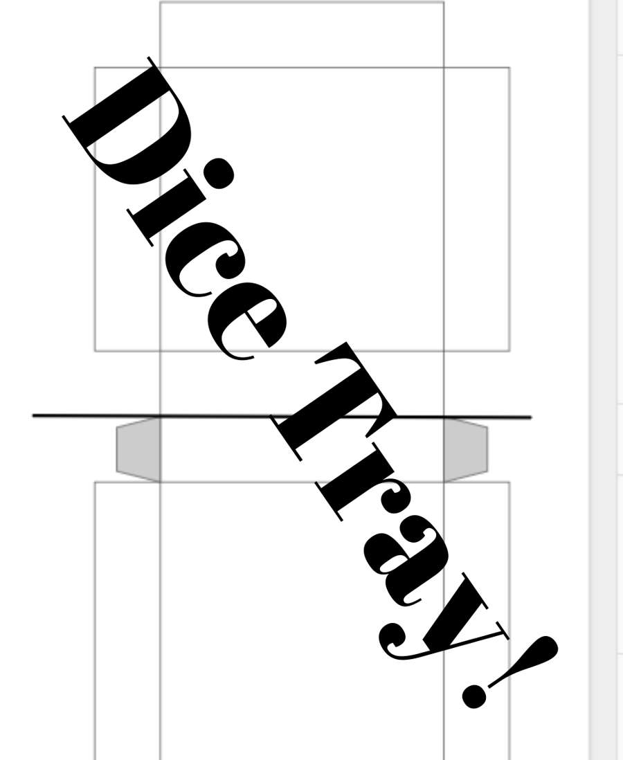 photo relating to Printable Dice known as Printable Cube Tray (Blank) - Dungeon Masters Guild Dungeon Masters Guild