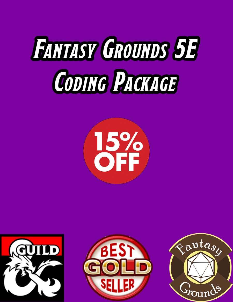 Fantasy Grounds 5E Coding Package - Dungeon Masters Guild | Dungeon Masters  Guild