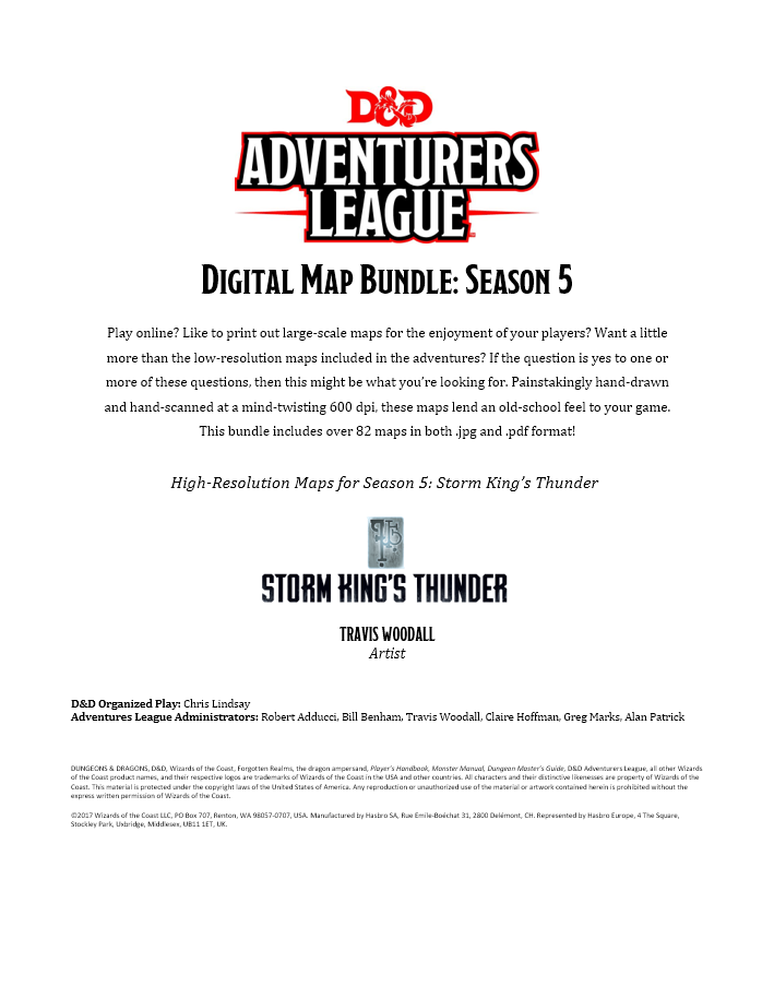picture regarding Storm King's Thunder Printable Maps identified as Electronic Maps: Year 5 (Storm Kings Thunder) - Dungeon Masters Guild  Dungeon Masters Guild