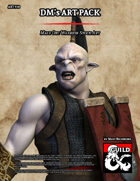 ART910 Male Orc Warrior Stock Art