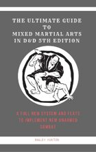 Mixed Martial Arts Guide For 5e (Feats Included)