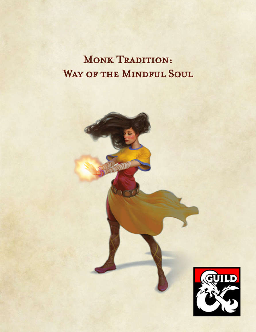 5e Monk Tradition: Way of the Mindful Soul - Dungeon Masters Guild