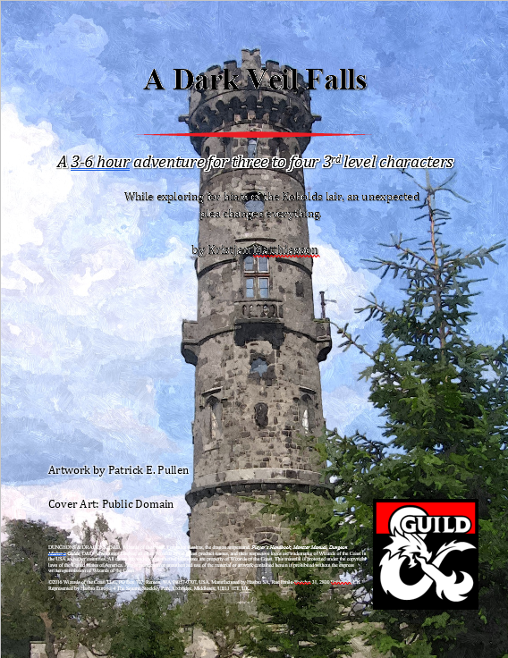 Cover of A Dark Veil Falls