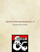 Archive of Esoteric Secrets Vol. II