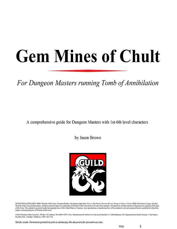 Gem Mines of Chult - Dungeon Masters Guild | Dungeon Masters Guild