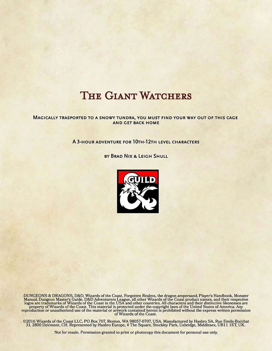 The Giant Watchers