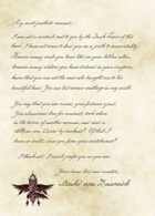 Curse of Strahd - Death House Letter (Strahd's handwriting matched)