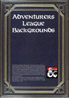 Collection of Adventurers League's Backgrounds