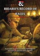 Ridaro's Record of Races