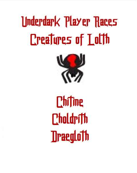Underdark Player Races | Creatures of Lolth - Dungeon