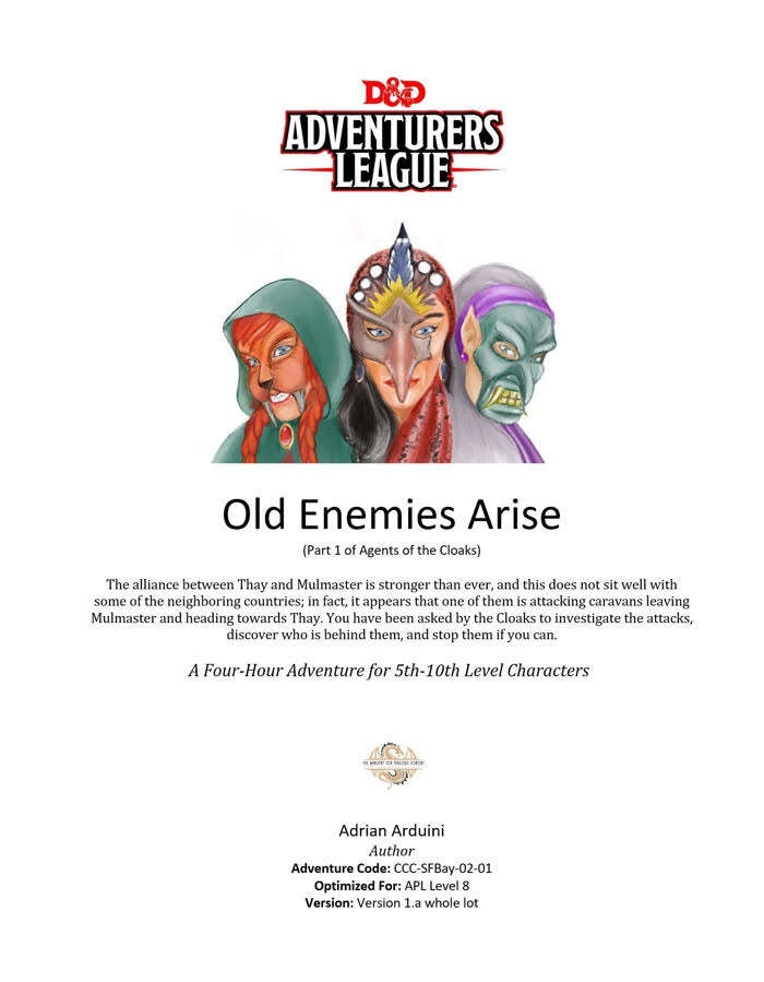 CCC-SFBay-02-01 Old Enemies Arise - Dungeon Masters Guild