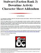 Stalwart (Faction Rank 3) Downtime Activity Character Sheet Addendum