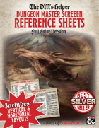 DMs Helper - Dungeon Master Screen Reference Sheets - Color