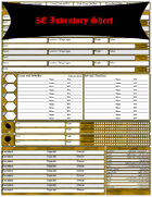 5E Expanded Inventory Sheet