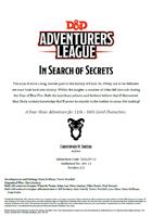 DDAL07-12 In Search of Secrets (5e)