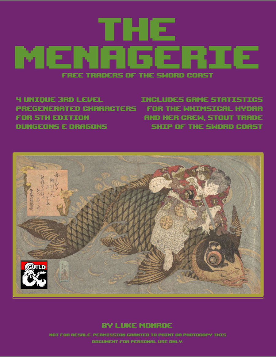 The Menagerie, Free Traders of the Sword Coast Cover