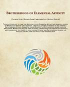 Brotherhood of Elemental Affinity: A set of 5e Monk Sub-classes