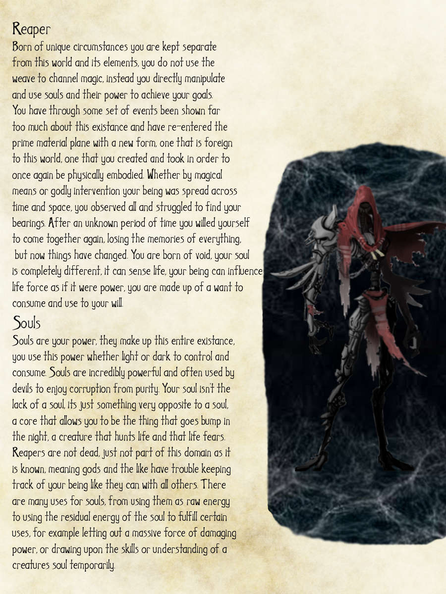 Reaper Class(Born of Void) - Dungeon Masters Guild | Dungeon Masters Guild