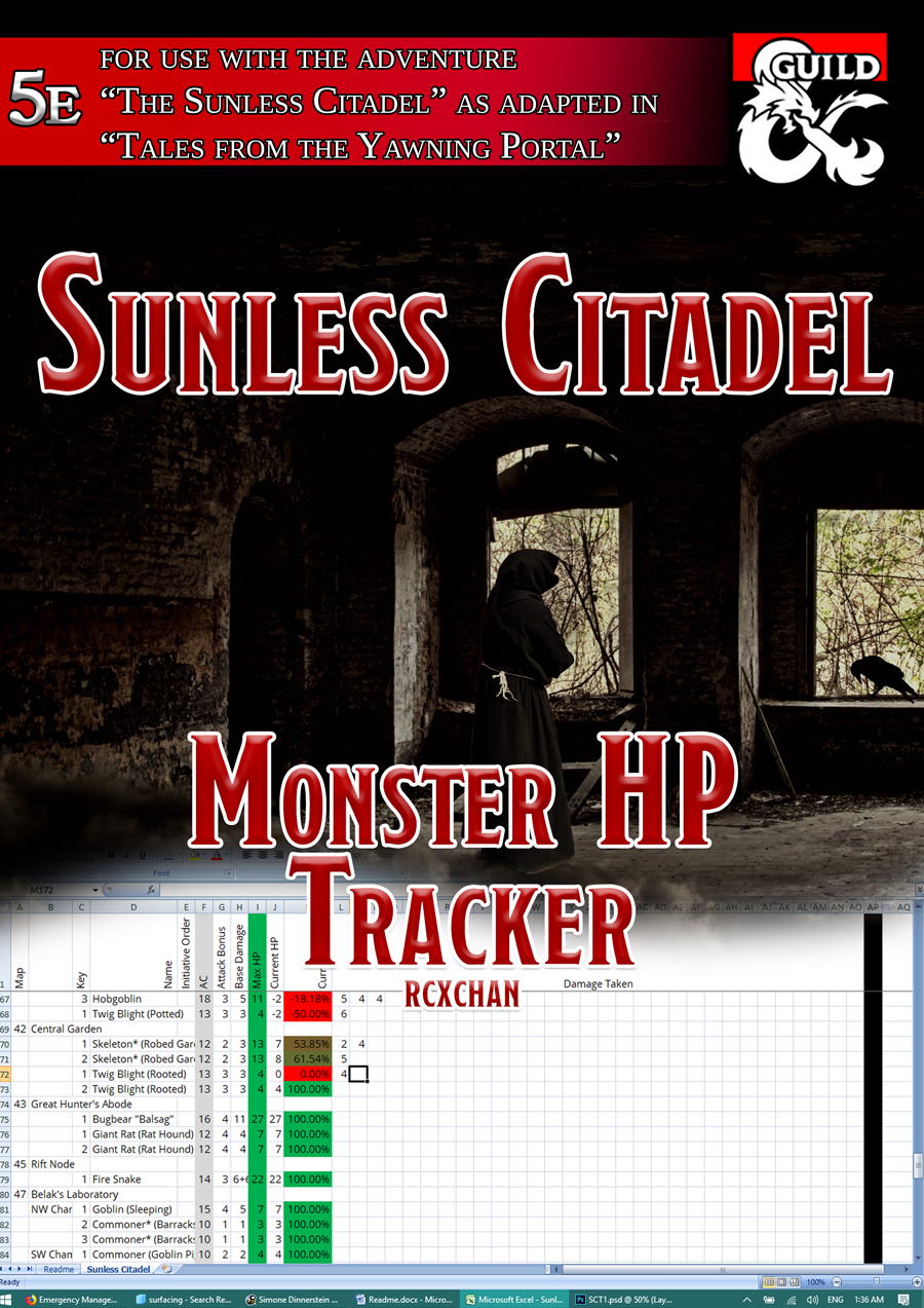Sunless Citadel Monster Hp Tracker 5e Dungeon Masters